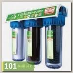Фильтр Гейзер-3 Био 322 для жестк. воды (мех+Арагон Ж-Био+ММВ, прозр корп., кран 6)