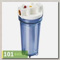 Водоочиститель PU 891C1-W12-PR-BN-R (прозр, мех.на х/в, вход 1/2, ключ, кроншт., картридж), Райфил