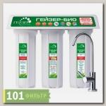 Фильтр Гейзер-3 Био 321 для жестк. воды (мех + Арагон Ж-Био + ММВ, кран 6, бел.корп.)