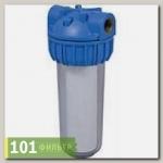 Водоочиститель PU 902С1-B12-PR-BN (прозр.колб 2-х комп, вход 1/2, ключ, кроншт, картридж), Райфил