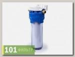 Фильтр Гейзер 1П 1/2 (8) прозрачная колба, мех.5мкм, пластмассовая скоба, ключ)
