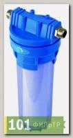 Корпус 10х1/2 (Гейзер) прозрачный, (метал. скоба)