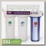Водоочиститель PU 905W3-WF14-PR-EZ (проточник 3-х стадийный, 1-я прозрачная колба), Райфил