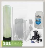 Умягчитель воды 10x35 (0,75-1,25 м3/час, ручной клапан Runxin, смола FeroSoft B) в сборе