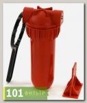 Колба фильтра (фильтр магистральный) AquaKit SL 10 3P H NP 3/4 (г/в, рыжая колба)