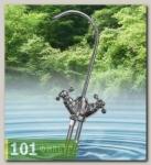 Кран DF015ВВ2-HC (кран с двумя выходами для подведения чистой воды (с вентилем барашек), Райфил
