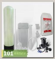 Умягчитель воды 10x35 (0,75-1,25 м3/час, ручной клапан Runxin, смола AlfaSoft) в сборе
