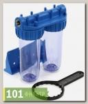 Колба фильтра (фильтр магистральный) AquaKit SLD 10 3P TP 1 (двойная колба)