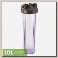 Магистральный фильтр ITA-37 ВВ Премиум (колба ВВ20), прозрачный, (ИТА)