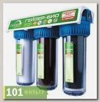 Фильтр Гейзер-3 Био 312 для мягк. воды (мех + Арагон М-Био + ММВ, кран 6, прозр. кор)