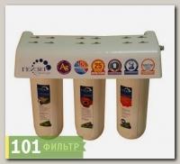 Фильтр Гейзер 3К Люкс для воды с повыш.содерж.железа (БА + Арагон + СВС, кран 3)